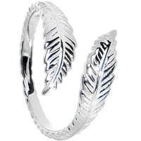 925 Sterling Silver Feather Toe Ring | Body Candy Body Jewelry