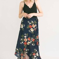 Mara Floral Wrap Skirt