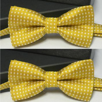 Boy Bow skinny mens Tie quality dot tie bowtie bow yellow red knitted ties for men corbatas hombre 2017 noeud papillon homme