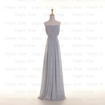 Custom A-line Sweetheart Floor-length Sleeveless Chiffon Sash Fashion Prom Dress Bridesmaid Dress Formal Evening Dress Party Dress 2013