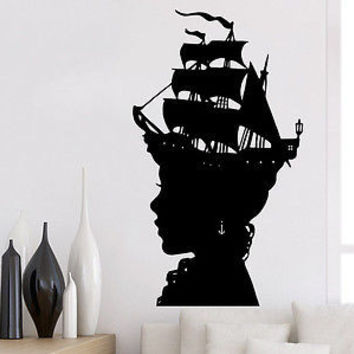 Wall Decal Ship Nautical Sea Boat Ocean Wall Stickers Home Decor Nautical C232