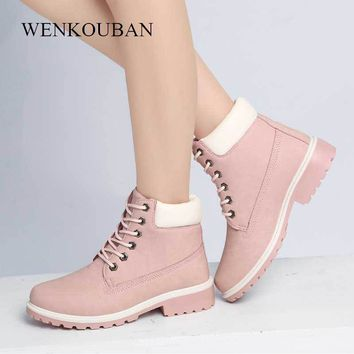 Camouflage Platform Boots Women Suede Winter Snow Boots Lace Up Warm Plush Ankle Boots Women Waterproof Ladies Shoes Botas Mujer