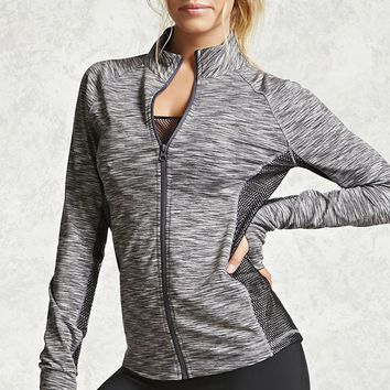 Active Marled Mock Neck Jacket