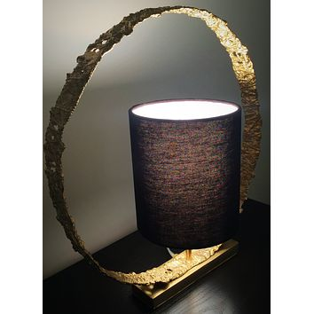 Shop unique handmade gold table lamp | Peetal and Carissa