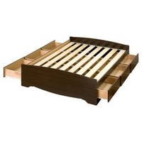 6 drawer Platform Storage Bed - Full / Double - Espresso - Prepac : Target