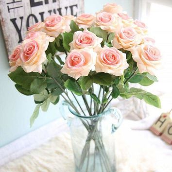 ESB1ON 1pc beautiful artificial flowers roses wedding decoration table flowers Artificial Flower For Wedding Decoration