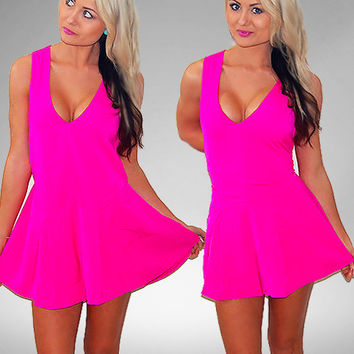 Billy Pop Hot Pink Playsuit