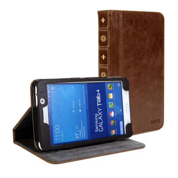 Book Case Vintage for Galaxy Tab 4 7.0
