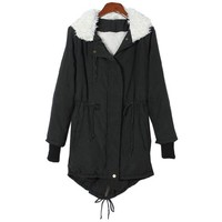 Fancy Dress Store Women's Korean Thicken Winter Fleece Bomber Jacket