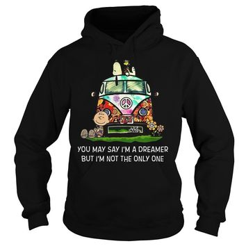 Snoopy and Charlie Brown you may say I'm a dreamer but I'm not the only one  Hoodie