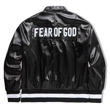 Fear of God bomber jackets men winter baseball trench pilot coats windbreaker parka military army hunting clothes hip hop outdoor clothing