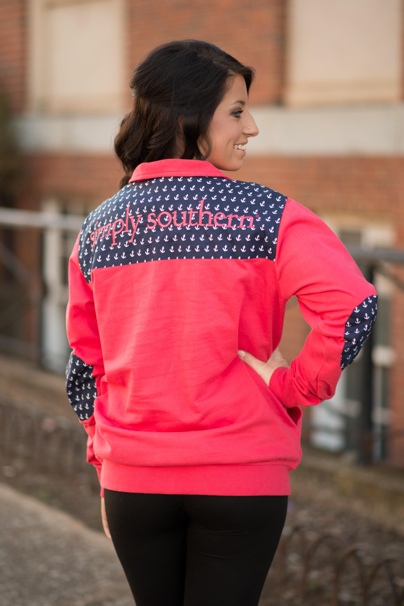 c3e8582c852 Simply Southern Coral Anchor Pullover from Pretty Please on Broad