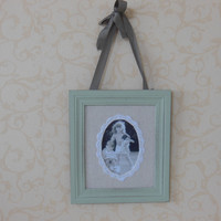 Weathered Vintage Style Lace Photo Frame Home Decor [6282553798]