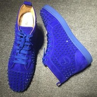 Cl Christian Louboutin Louis Spikes Style #1864 Sneakers Fashion Shoes - Sale