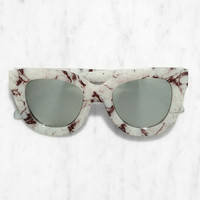 Quay Sugar and Spice Ivory Marble Sunglasses