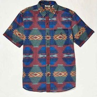 Salt Valley Geo Print Button-Down Shirt