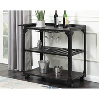 Serena Bar Cart with Casters