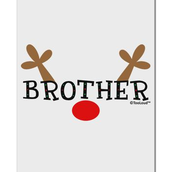 "Matching Family Christmas Design - Reindeer - Brother Aluminum 8 x 12"" Sign by TooLoud"