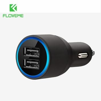 FLOVEME Universal USB Car Charger For iPhone X 8 8 Plus Xiaomi Dual Usb Mobile Phone Car-Charger Adapter For Phone in Car