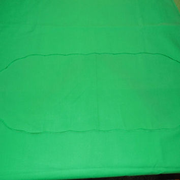 "Irish Green Tablecloth 72"" Oval, Nice Shamrock Green Oval Tablecloth, Small 26"" Runner Included"