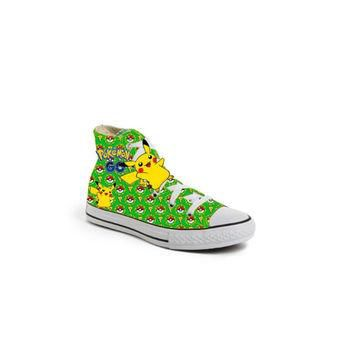 Green Limited edition POKEMON Ball PIKACHU birthday inspired shoe (NON-CONVERSE)