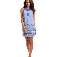 Embroidered Oxford Dress