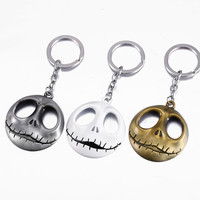 HSIC Nightmare Before Christmas Jack Skull Key Chain 3.5cm Pendant 3 Colors Movie Accessories Key Chain Men&Women Alternative Measures