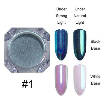 0.5g Holographic Chameleon Mermaid Nail Glitter Powder Unicorn Mirror Chrome Pigment Dust Nail Art Decorations
