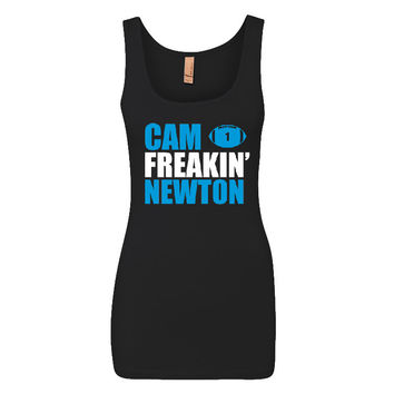 Cam Freakin' Newton Panthers Ladies Jersey Tank Top Sports Clothing