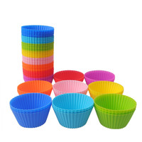 5PCS/5SET Round Shape Silicone Mold Cake Decorating Tools Baking Mold Bakeware Maker Mold Kitchen Accessories
