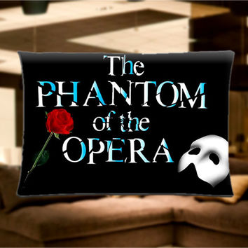 "The Phantom of the Opera Musical Broadway Pillow Case Cover Bedding 30"" x 20"" Great Gift"