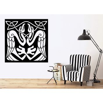 Vinyl Decal Wall Sticker Abstract Birds Eagle Celtic Style Art Mural Unique Gift (n776)