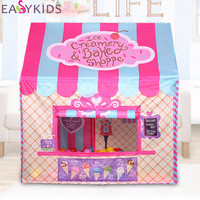 Kids Play Tent Foldable Portable Girl Princess Castle Indoor Outdoor Play Tents Playhouse For Children Best Gifts