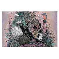 "Mat Miller ""Land of The Sleeping Giant"" Panda Decorative Door Mat"