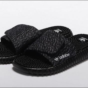 """Adidas"" Women Men Yeezy Boost Black Sandals"