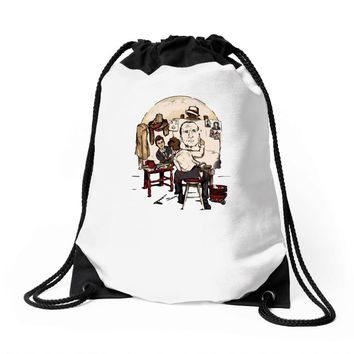 doctor's portrait Drawstring Bags