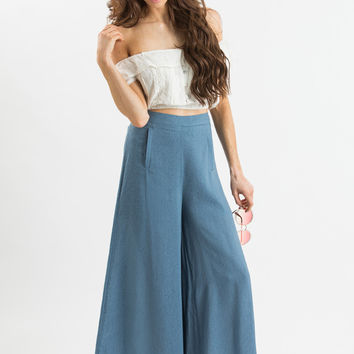 Skyler Blue Flared Culottes