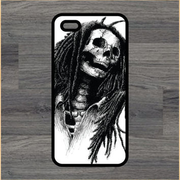 Rasta Skeleton Art Print Cell Phone Case iPhone 4/4s 5/5c 6/6+ Case and Samsung Galaxy S3/S4/S5