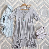 Lola T-Shirt Tunic Dress in Gray