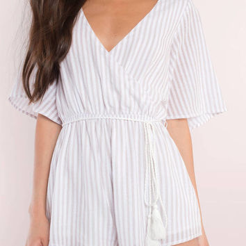 On The Ropes Striped Romper