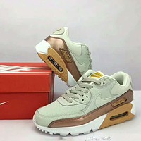 Nike Air Max 90 air cushion cushion new autumn and winter half-cushion sports shoes F-XYXY-FTQ Light khaki
