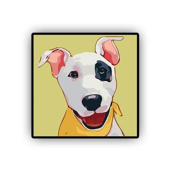 Bull Terrier DIY Kids Paint By Numbers Kit: Includes Acrylic Paints, Brushes and Canvas with Frame Option