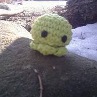 Sea Green Baby Octopus Amigurumi  Handmade Crochet by OwlPudding