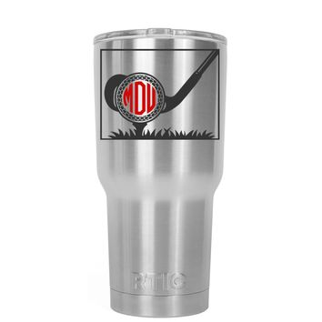 RTIC Monogrammed Golf Ball 20 oz Tumbler Cup