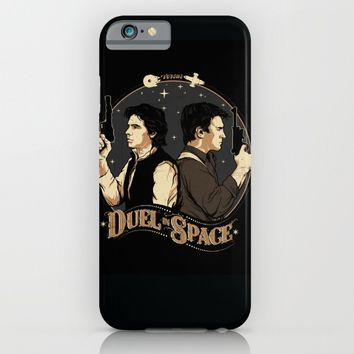 Duel in Space iPhone & iPod Case by zerobriant