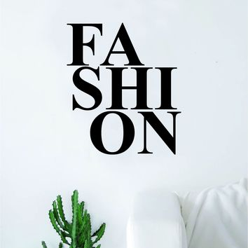 Fashion Decal Sticker Wall Vinyl Art Wall Bedroom Room Home Decor Motivational Inspirational Clothes Girls Boy
