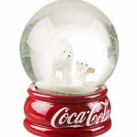 Coca-Cola Polar Bears Boxed Snow Globe