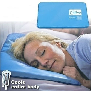 2016 New Cold Therapy Insert Sleeping Aid Pad Mat Muscle Relief Cooling Pillow (Color: Blue) [8833488268]