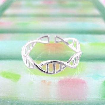 Fun and Wonderful Double Helix Ring - Adjustable