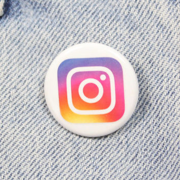 New Instagram Logo 1.25 Inch Pin Back Button Badge